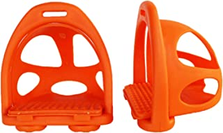 CHALLENGER Horse Saddle English Composite Safety Removeable Cage Endurance Stirrups 51166OR