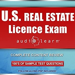 US Real Estate License Exam AudioLearn audiobook cover art