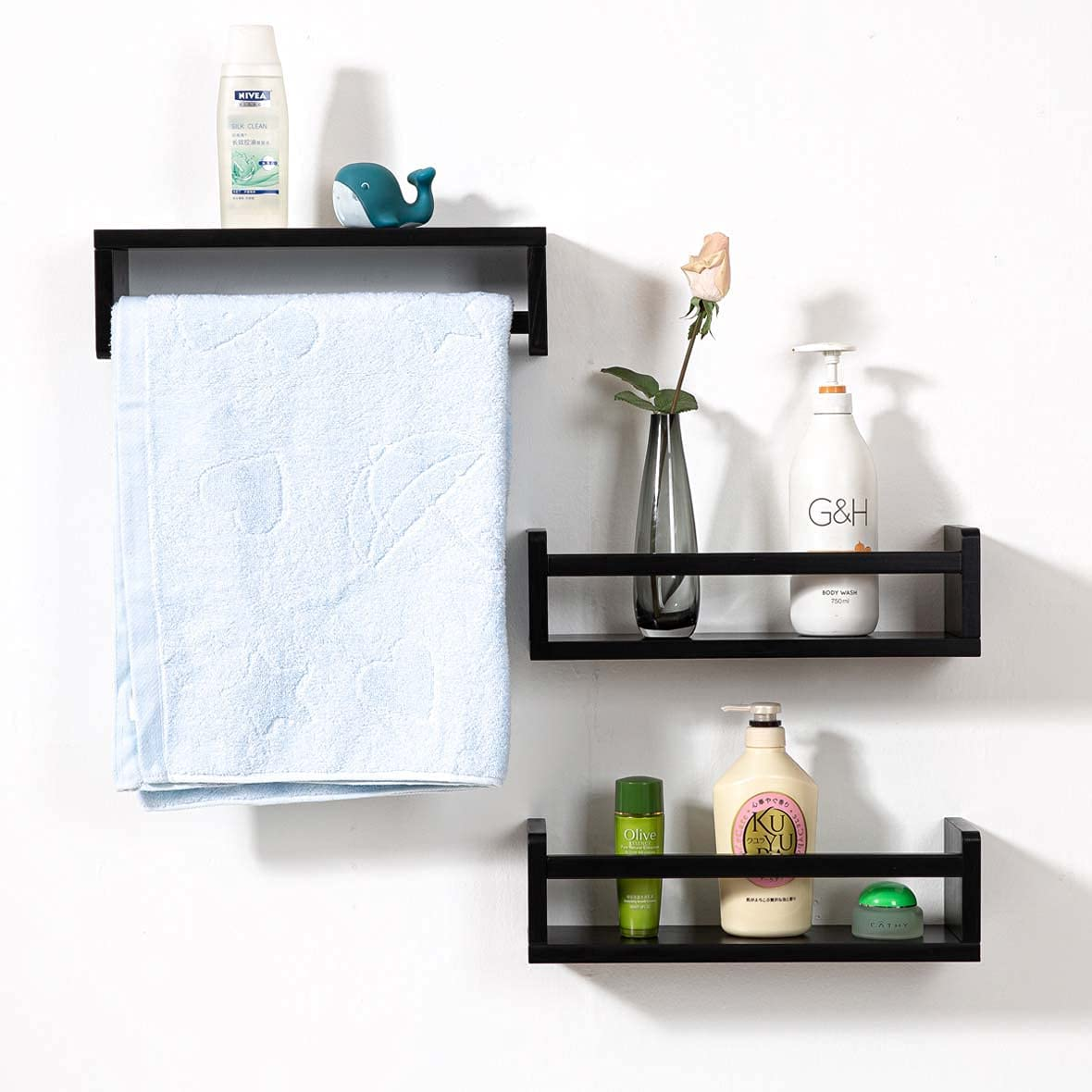 AUYKBVK 16-inch San Jose Mall Wall-Mounted Shelf Storage Used can be Rack Fashionable fo