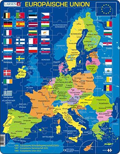 A39 La Unión Europea (UE), edición en Alemán, Puzzle de Marco con 70 Piezas