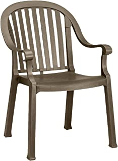 GROSFILLEX INC Grosfillex - US650037-23 x 24 x 34 Resin Armchair with 300 lb. Weight Capacity, Bronze Mist; Resistant To Discoloration