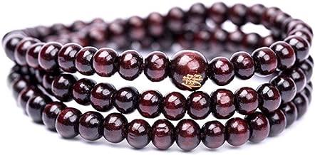 6mm Natural Sandalwood Buddhist Buddha Meditation 108 beads Wood Prayer Bead Bracelet Women Men jewelry