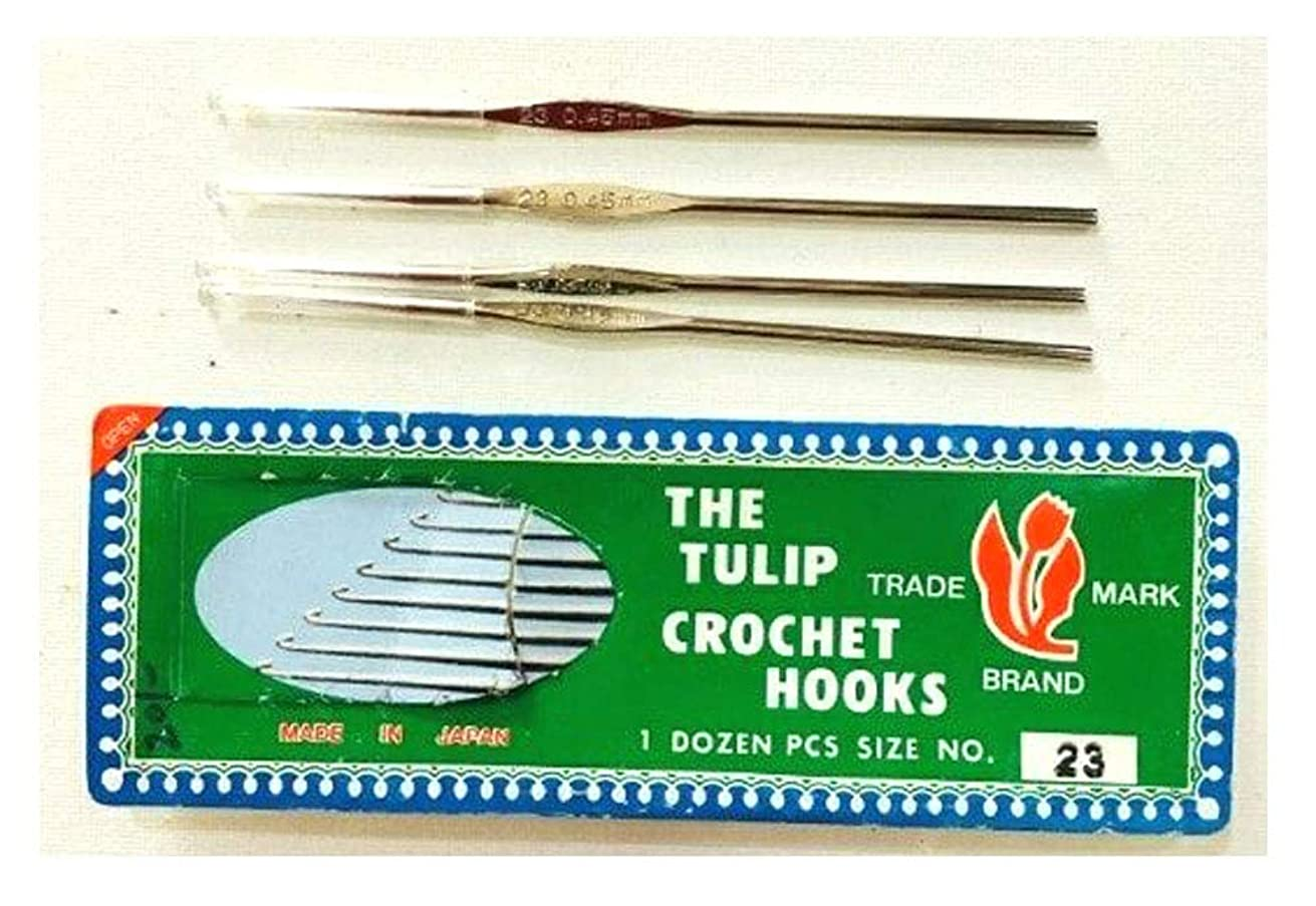 Pack of 12 - Yuktha Eternals Crochet Hooks & Yarn Needles - Sturdy, Smooth & Extra Long Hook Great for Any Type of Yarns - Size 23mm