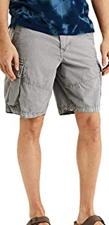 American Eagle Mens Ripstop Longer Length Cargo Short, Charcoal Ash (44W)
