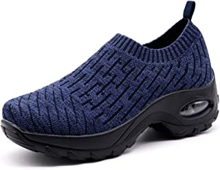 24eca856197 HKR Womens Walking Tennis Shoes Slip On Light Weight Mesh Platform Air  Sneakers