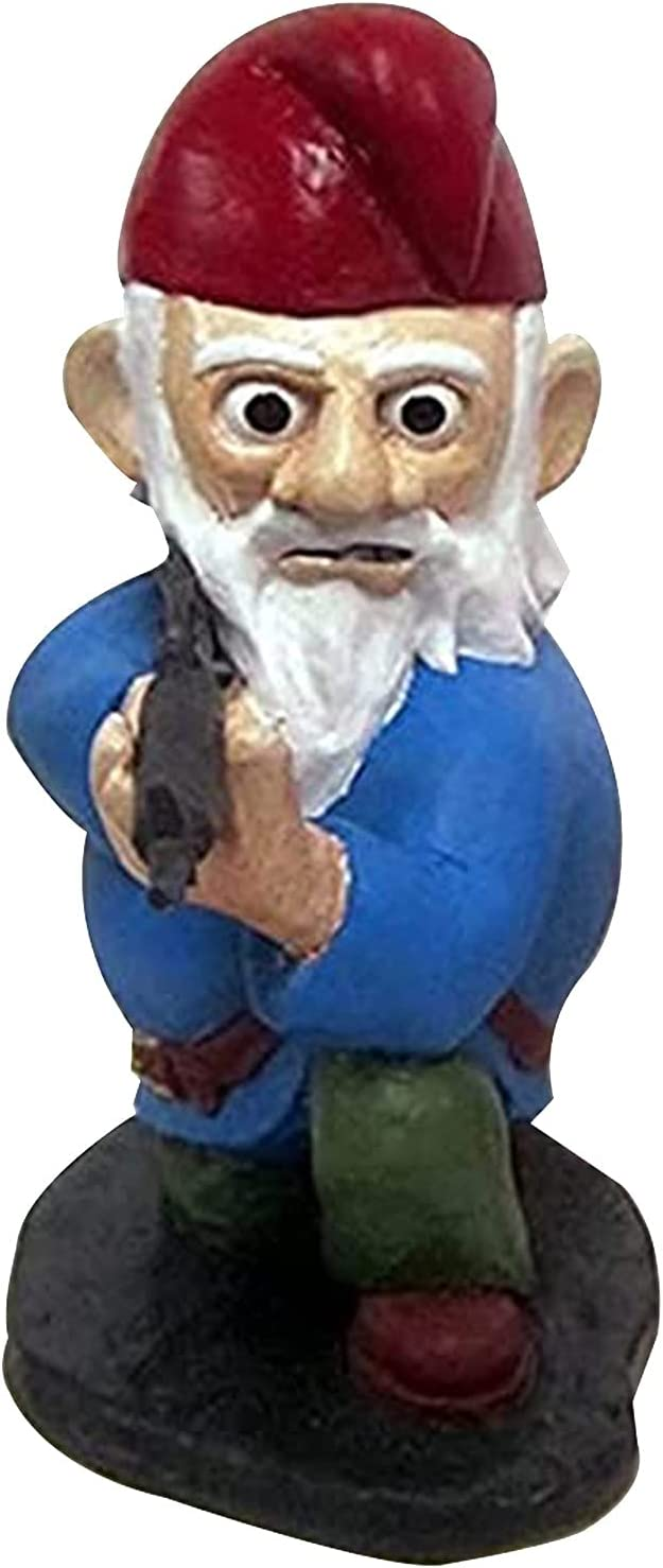 Garden Gnomes Army Statue Outlet SALE Max 61% OFF Funny Resin War Figurines Gnome