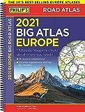 2021 Philip's Big Road Atlas Europe: (A3 Spiral binding)