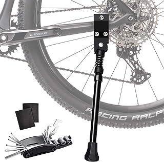 Oziral 自転車 サイドスタンド キックスタンド 16〜26inch対応 片足 軽量 汎用 調整可 マウンテンバイク MTB クロスバイク ロードバイク マウンテンバイク 携帯型マルチツール付き