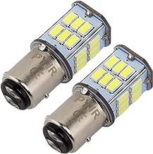 1157 BAY15D P21W led luz de freno, PYJR 5W DC10-30V Voltaje ancho Luz blanca 6000K, para RV, automóvil, motocicleta, 2 unidades