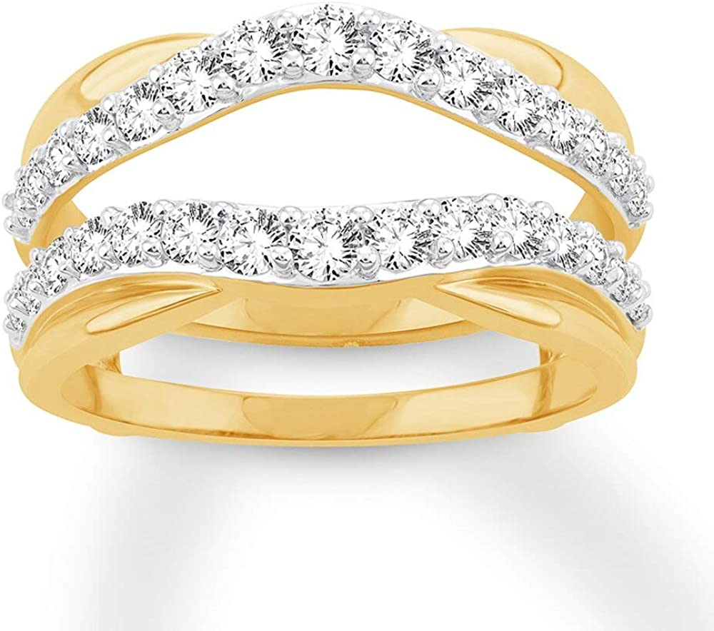 Jewelry Star 14K Yellow Gold Plated Cut ct Round New item Outlet ☆ Free Shipping in 1.00 Silver