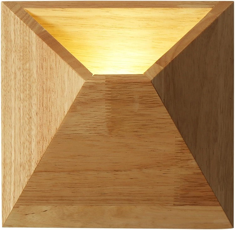 WSXXN LED Moderne Minimalistische Gummi Holz Wandleuchte Kreative Holz Kombination Wohnzimmer Schlafzimmer Studie Persnlichkeit Beleuchtung Korridor Korridor Leuchte (gre   Diameter 20cm)