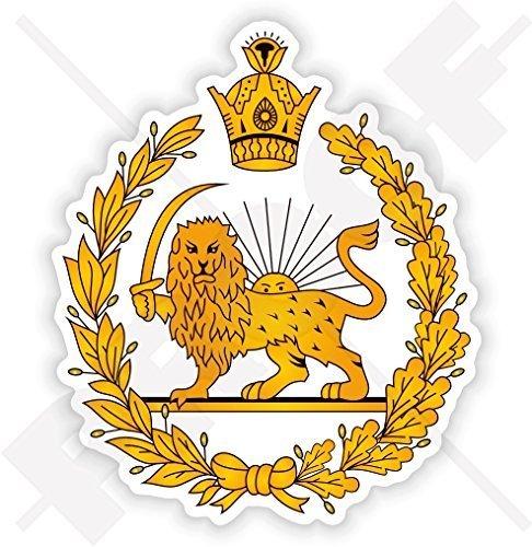 IRAN Ehemaliges Persisches Wappen, Persien Iranisch 100mm Auto & Motorrad Aufkleber, Vinyl Sticker