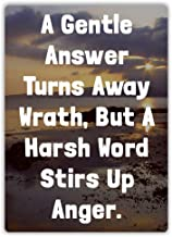 Yilooom A Gentle Answer Turns Away Wrath- Metal Wall Sign Plaque Art - Lord Prayer Bible
