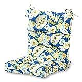 Greendale Home Fashions AZ4809-MARLOW Magnolia Floral 44'' x 22'' Outdoor Seat/Back Chair Cushion