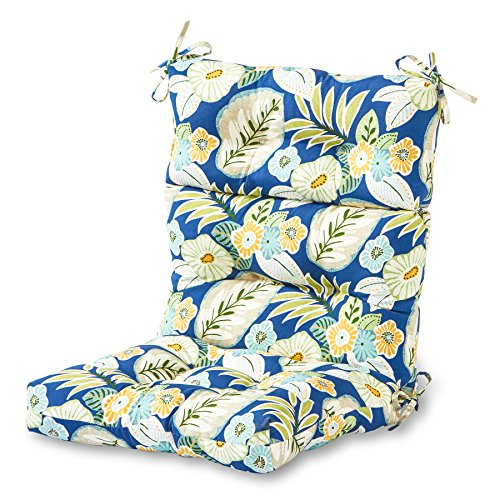 Greendale Home Fashions AZ4809-MARLOW Magnolia Floral 44'' x 22'' Outdoor Seat/Back Chair Cushion