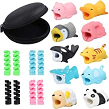 Benavvy 19pcs Charging Cable Protector, Cable Bites, Charging Cord Saver Cute Animal, Cable Buddies for iPhone iPad Charging Cable