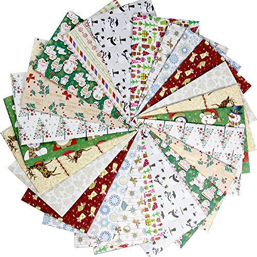 UNIQOOO - 24 fogli di carta da regalo natalizia, pretagliati, 12 design assortiti, finitura laminata oro e argento, copertura TTL.78 FT2, per festa del ringraziamento, vacanze, compleanno, 70 x 44 cm