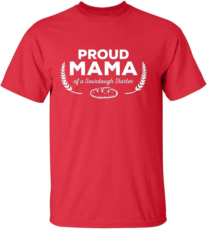 Proud Mama of a Sourdough Starter Adult Short Sleeve T-Shirt