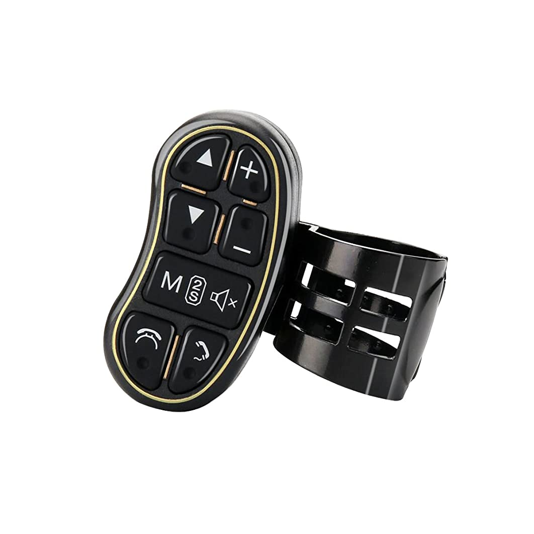 Tiker Universal DVD GPS Player Phone Steering Wheel Control Key with Audio Volume Bluetooth Switch Control Button Led Keys