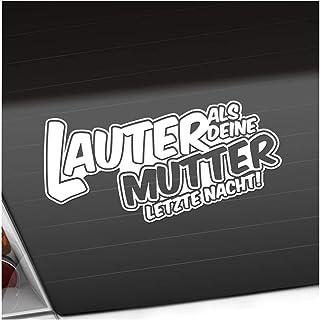 Kiwistar Lauter als Deine Mutter. 20 x 10 cm IN 15 Farben   Neon + Chrom! Sticker Aufkleber