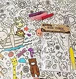 JEKA Papier-Tischdecke zum Ausmalen, Motiv Zoo, Kindertischdecke, Kindergeburtstag, Kinderbeschäftigung, Mal Mich Bunt - 6
