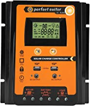 MPPT Solar Charger Controller- Solar Panel Battery Regulator LCD Display with Dual USB Port Display 12V/24V Safe Protection(70A)