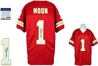 Warren Moon Autographed Jersey - Authentic - Red - PSA/DNA Certified - Autographed NFL Jerseys