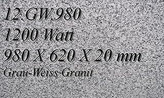 Calefacción por infrarrojos–Calefactor de infrarrojos eléctrico (mármol Magma Calefacción 1200W 12. GW.980