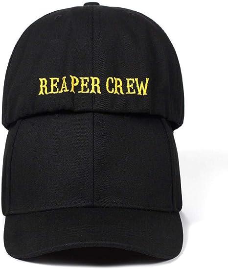 JYXMY 2020 Nuovo SOA Sons of Anarchy Reaper Crew Equipaggiata Berretto da Baseball Cappello Donne MenREAPER Cappello Ricamato Crew Hip Hop Cappello da Baseball cap Ragazzi Color : Black And Yellow