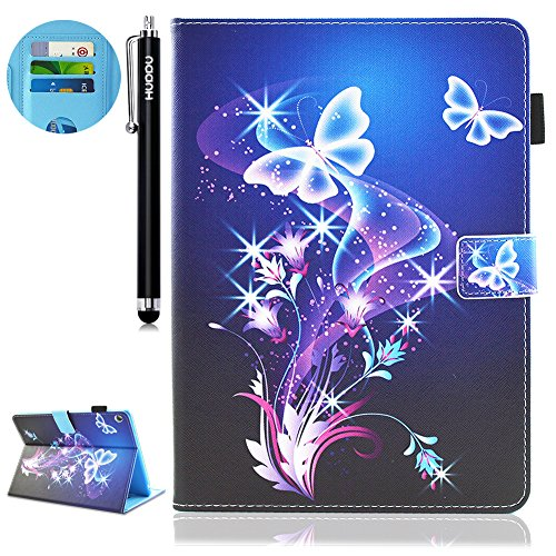 HUDDU Verträumter Schmetterling Schutzhülle für Huawei MediaPad M3 Lite 10 (10,1 Zoll) Hülle Flip Tasche Leder Smart Case Lightweight Cover mit Stand Kartenfach Magnetverschluss Notebook Lederhülle