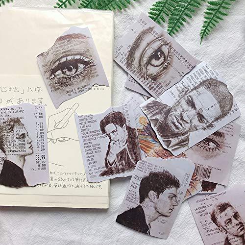 BLOUR 15 unids/Pack Vintage Pegatina de recibo de Compras Manualidades DIY álbum de Recortes planificador de Diario Basura Pegatinas Decorativas
