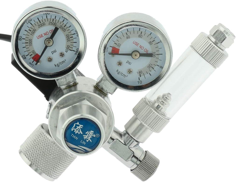 D DOLITY Aquarium CO2 Regulator W21.8 Magnetic Solenoid Check Valve Fish Tank CO2 Control