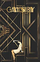 THE GREAT GATSBY: Gold & Black Retro Art Deco Notebook - College classic Ruled Pages Book (5.5 x 8.5) a5 Planner Lined Journal Composition Notebook to write in (Positive Vibrations)