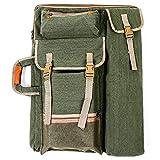 Fiona Sac de transport pour artistes – Sac de transport à bandoulière, sac de transport en toile, 4 K, multifonction, sac à dos pour dessin, croquis, peinture (vert)
