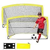 Sportout Portería de fútbol portátil, Red de...