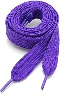 Fashion Flat Shoelaces 54 Inch Canvas Sneaker Athletic Tennis Shoe Laces Unisex Strings - 39 Colors