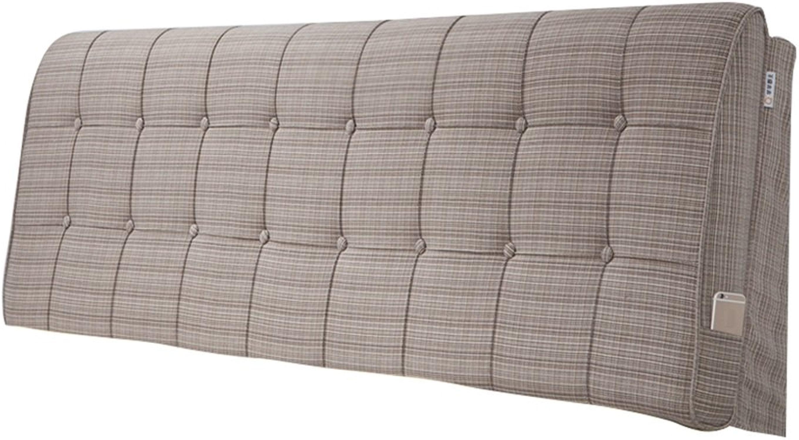 Tête de lit triangle oreiller arrière coussin grand dossier pour le lit chevet canapé Softcase oreiller unique double lit king oreiller coussin lombaire (marron)
