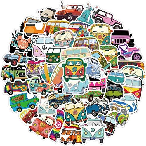 DUOYOU Hip-Hop estilo autobús al aire libre graffiti impermeable monopatín viaje maleta teléfono portátil equipaje pegatinas lindo niños niña 50 piezas