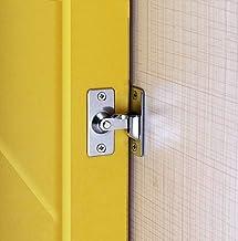 (2 pakketten) 90 graden flip deurslot rechthoekig gebogen deurgesp deur gesp bouten scheunentdeur slot schuifdeurslot spec...
