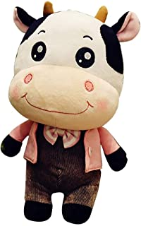 Accessories Cow Plush Toy Cow Figurine Couple Creative Valentine Gift Boy Girl Birthday Present (Color : Brown, Size : 49cm)