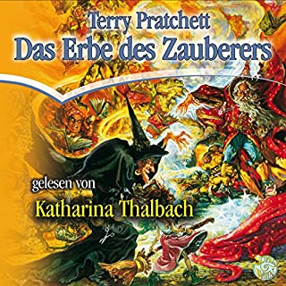 Das Erbe des Zauberers     Ein Scheibenwelt-Roman              Autor:                                                                                                                                 Terry Pratchett                               Sprecher:                                                                                                                                 Katharina Thalbach                      Spieldauer: 9 Std. und 47 Min.     736 Bewertungen     Gesamt 4,6