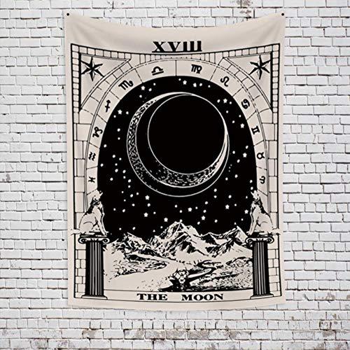 Tarot mapa tapiz colgante de pared astrología adivinación colcha de playa alfombra de pared tapiz de pared tela decoración de dormitorio