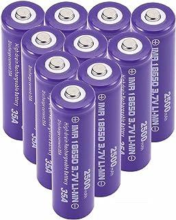 2500mah 3.7v 18650 Batterij Oplaadbaar 18650 Li-Ion Battery 18650 Batterijen Knop Top Grote Capaciteit Voor Led Zaklamp To...