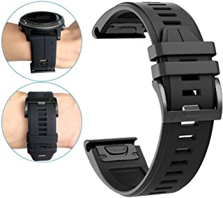 for Fenix 5X Plus Watch Band,YOOSIDE 26mm Quick Fit Silicone Sport Waterproof Replacement Watch Band Strap for Garmin Feni...