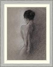 Framed Wall Art Print Chiaroscuro Figure Drawing I by Ethan Harper 26.75 x 33.38