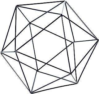 Torre & Tagus Polygon Iron Frame Decor Ball, Large, Black