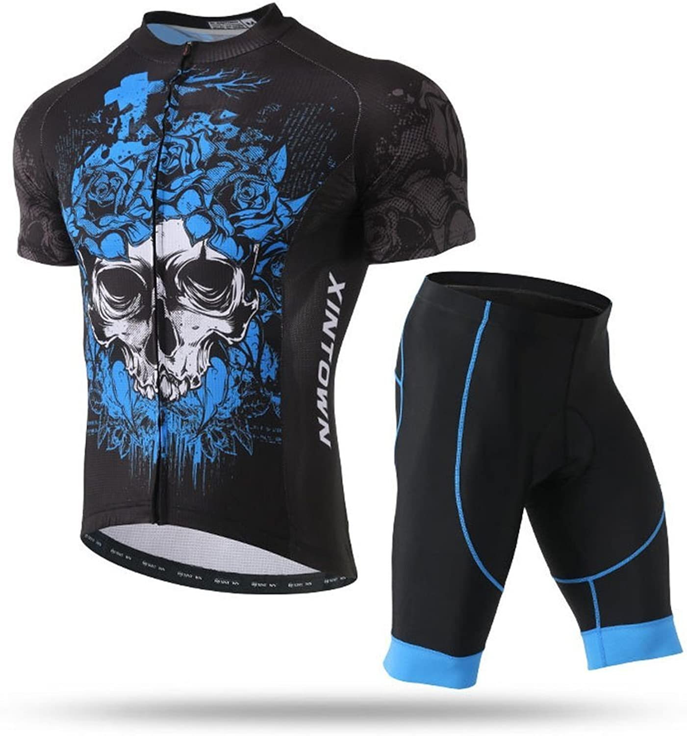 Pinjeer blueee Enchantress Skull Style Latest Dresses in This Summer,Cycling Clothing Sets Trousers AntiSlip Strap Men Outdoors Riding,Sports Boys Jersey Shorts Men Plus Size