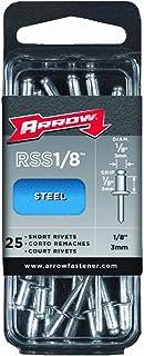 Arrow Fastener 1/8 in. Dia. x 1/8 in. Stainless Steel Rivets Silver 25 pk