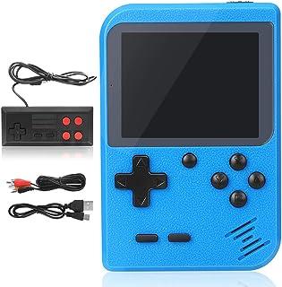 Console de Jeux Rétro 500 Jeux Classiques pour 2 Joueurs Meuble TV Consoles de Jeu Portables avec Manette Chargement USB, ...