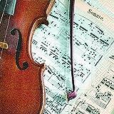 20 Serviette Musik Sonate Geige Violine 33x33 cm, 3-lagig, 1/4 gefaltet auf 16,5x16,5 cm